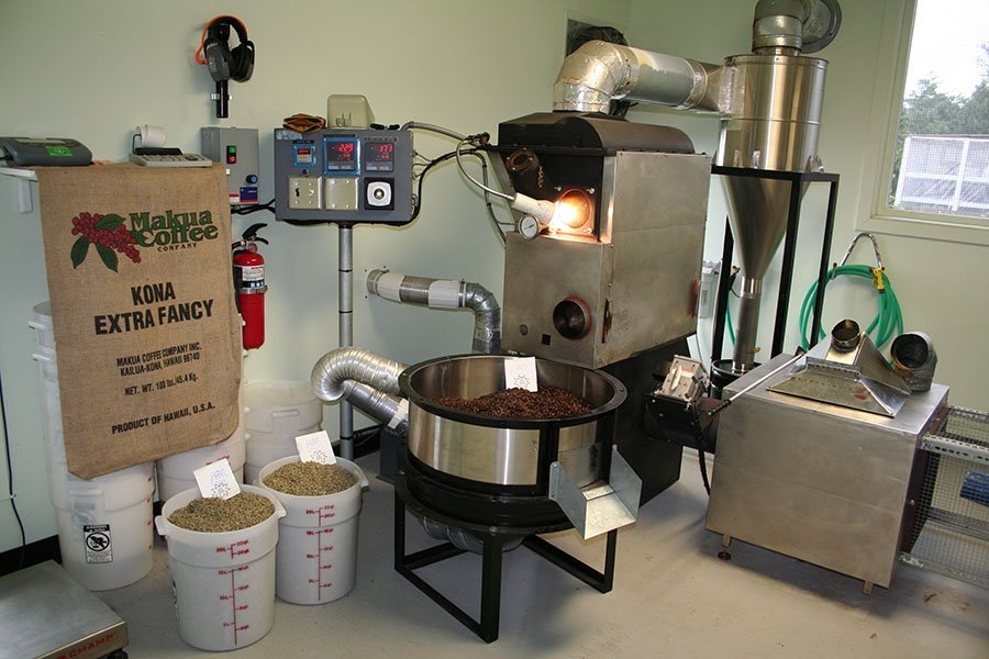 Makua Coffee Company's Certified Roasting Facility in Kailua-Kona, Hawaii