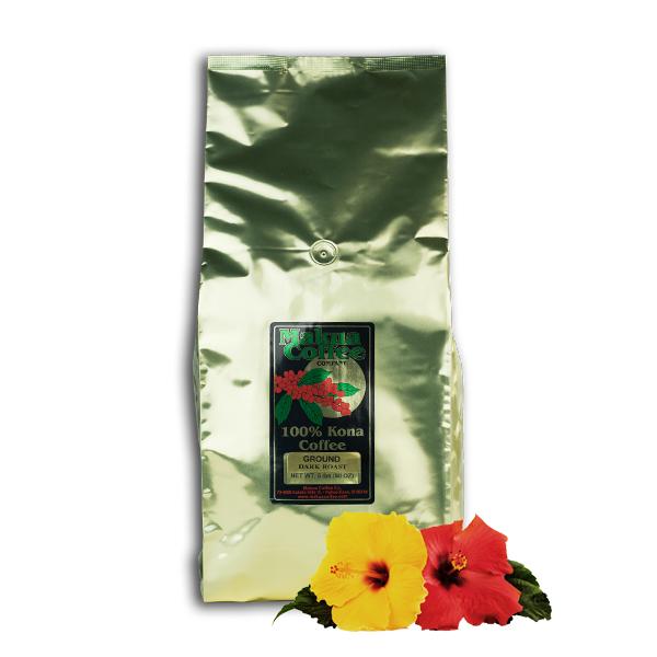 Makua Coffee Company 100% Kona Coffee Ground Dark Roast 5 lb Bag