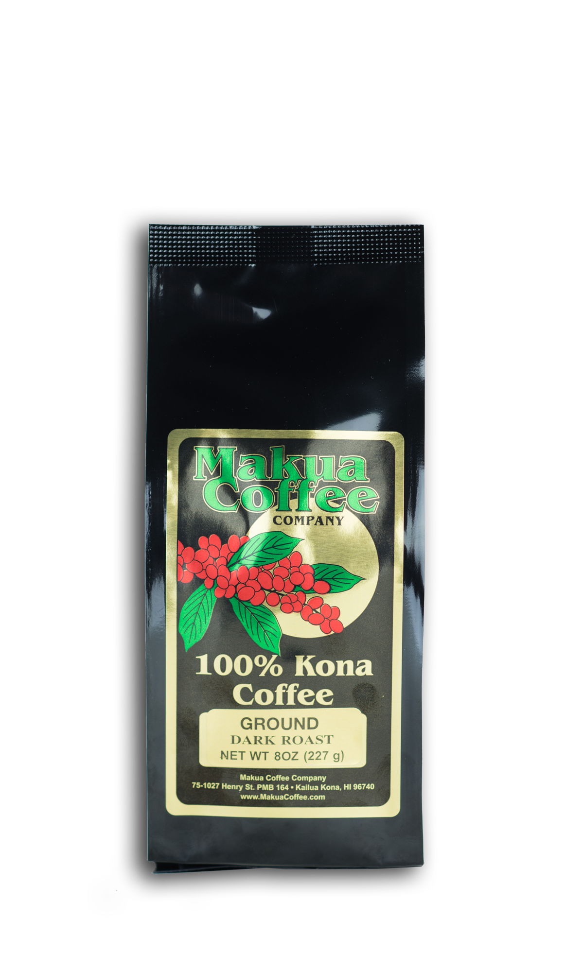 Makua Coffee Company 100% Kona Coffee Dark Roast Ground Coffee 8 oz