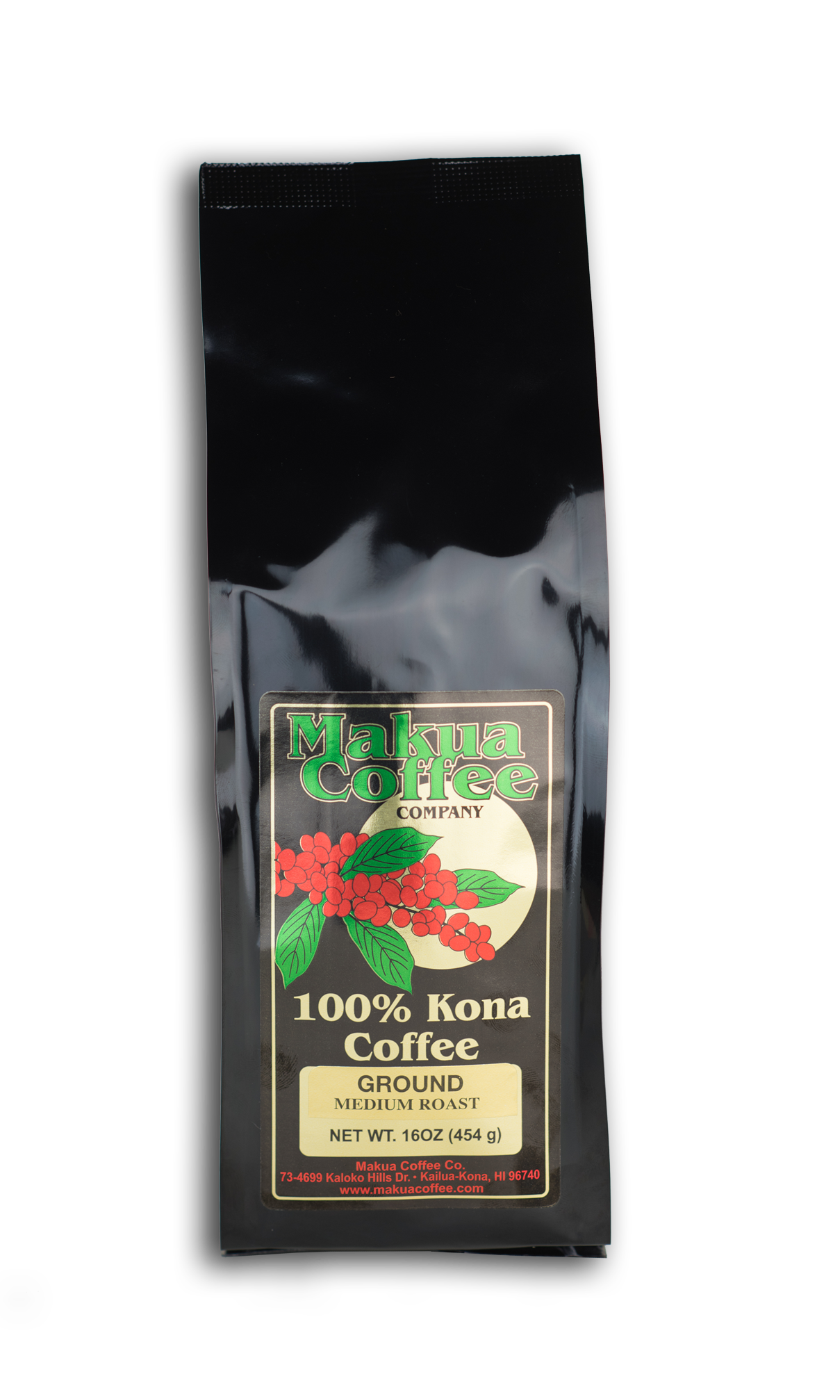 Makua Coffee Company 100% Kona Coffee Medium Roast Ground Coffee16 oz bag