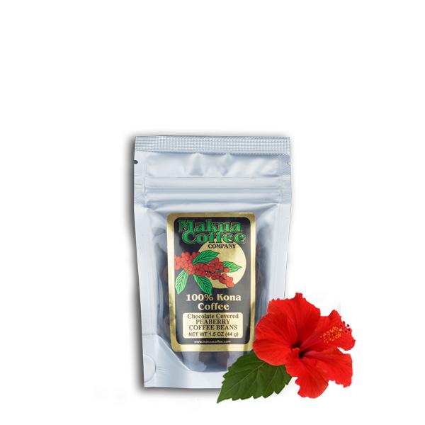 Makua Coffee Company ChocolateCoffee Beans - Semi Sweet Peaberry Beans 1.5 oz bag
