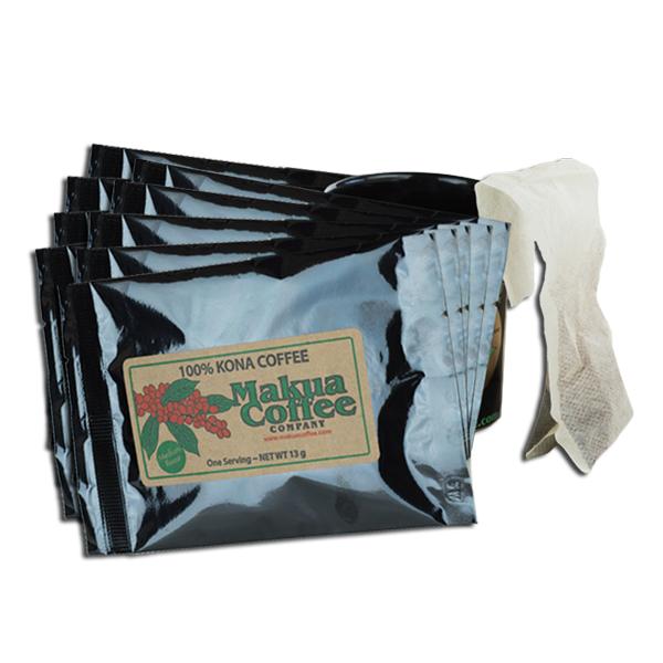 100% Kona Coffee K-Cups Alternative Single Serve Brew Bags 10 pack