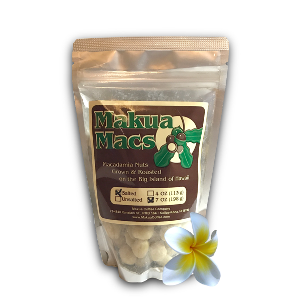 Makua Macs Roasted Salted Macadamia Nuts Hawaii 7 oz Bag