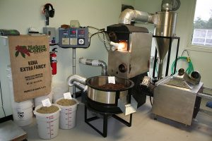 Makua Coffee Company Roasting Equipment in their certified Kailua-Kona Location